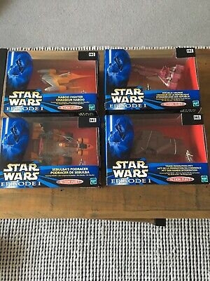 1999 Star Wars Episode 1 Hasbro Action Fleet 4 Fighters