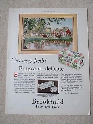 Brookfield Butter February 1928 Pictorial Review and Quaker Oats Advert Page