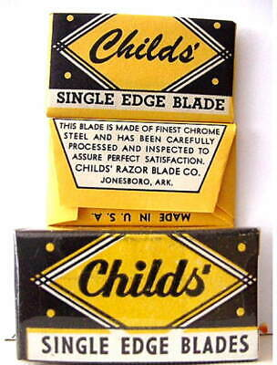 Vintage CHILDS'   FULL BOX SE  Safety Razor Blades