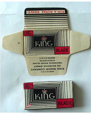 Vintage KING   FULL BOX DE  Safety Razor Blades