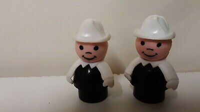 Vintage Fisher-Price Little People Play Family Lot Of 2 Firemen/Firefighters