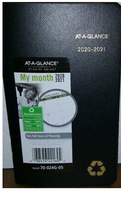 70-024G At-A-Glance 2-Year Monthly Pocket Planner Calendar My Month 2020-2021