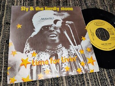 "SLY&THE FAMILY STONE Time for livin/Small talk 7"" 45 1974 *SPAIN* EX"