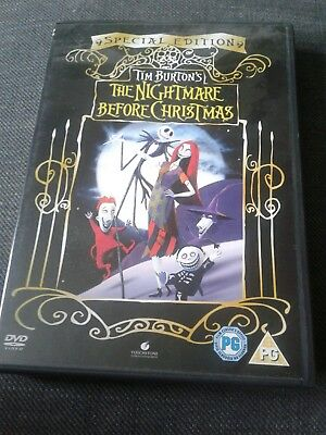 """""""The Nightmare Before Christmas """" Special Edition Dvd"""