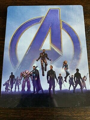 Avengers: Endgame STEELBOOK (4K Ultra HD + Blu-ray) NO DIGITAL! PREOWNED!