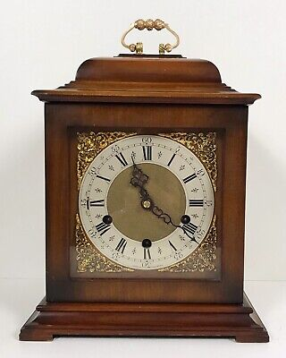 Smiths Walnut Quarter Chiming Bracket Clock Superb