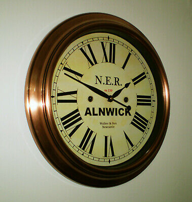 Custom Railway Clock, Victorian Style Station Clock, Bespoke Dial Made to Order.
