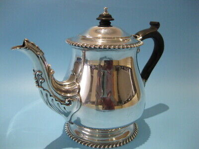Very Nice Quality Antique Silver Plated Regency Style Bulbous Tea Pot