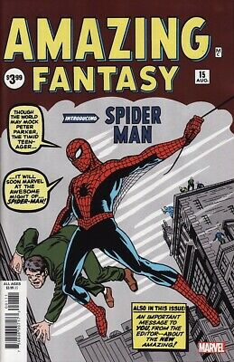 AMAZING FANTASY #15 Marvel Comics FACSIMILE EDITION! 1ST SPIDER-MAN APPEARANCE!