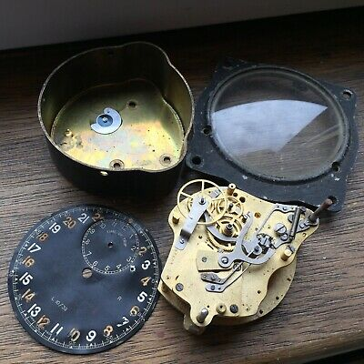 Rare LeCoultre Smiths Trip Time RAF Aircraft Cockpit Clock Spitfire FOR PARTS