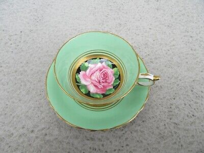 Stunning Vintage Paragon Porcelain Cup & Saucer Decorated With Pink Rose