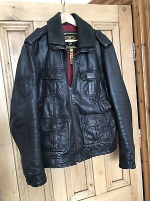 "Superdry Premium Leather Jacket - Large 40"" Chest"