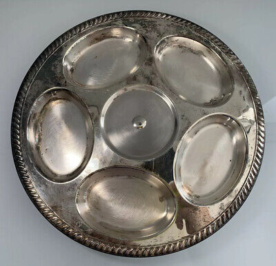 English Silver MFG Corp Silver Plated Rotating Serving Plate Lazy Susan Dish