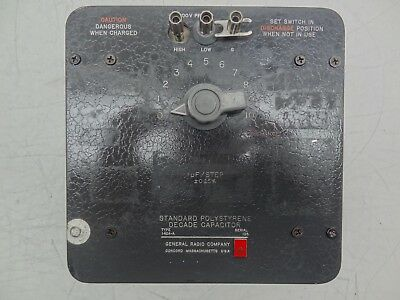 GR General Radio Company Type 1424-A Standard Polystyrene Decade Capacitor