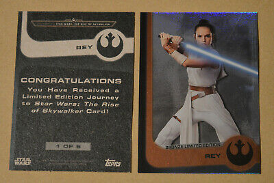 Topps STAR WARS THE RISE OF SKYWALKER = REY (Bronze Limited Edition) Card no.1