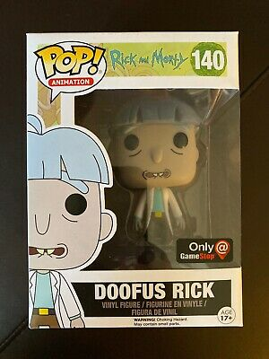 Funko Pop Rick And Morty Doofus Rick GameStop Exclusive Rare 140 W/pop Protector