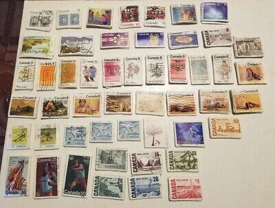 Canada 50 different x 20 = 1000 stamps off paper large and small, please read