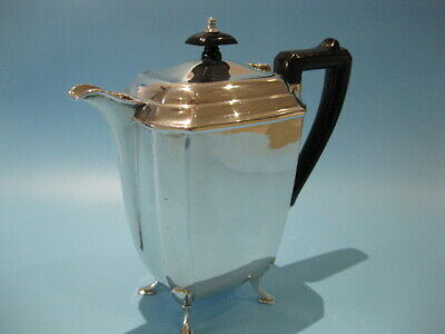 Beautiful Very Elegant Antique Silver Plated Footed Art Deco Coffee Pot