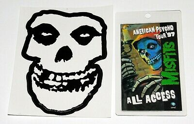 MISFITS American Psycho Tour 1997 All Access Laminate Backstage Pass + Sticker