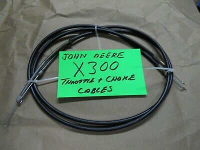 Choke and Throttle cables for John Deere X300 rider fits part #AM14033X