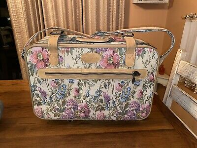 Vintage Protocol Floral Tapestry Carpet Luggage Travel Case Carry On