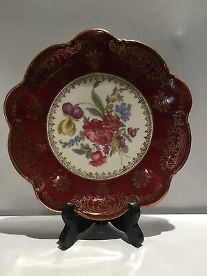 Antique plate lovely delicate floral design. Excellent condition