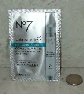 NEW No7 Line Correcting Booster Face Serum 0.1oz 3ml Sample Size
