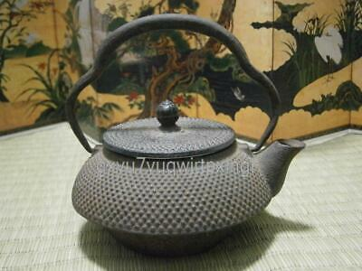 Japanese Iron Arare pattern SMALL TEA KETTLE Teapot Tetsubin tetsu③adamski