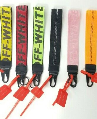 Off White Lanyard Industrial Keychain Badge ID Belt Off-White ow Short 10in