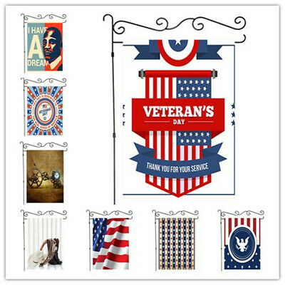 Welcome Veterans Day Garden Flag Double-sided House Decor Yard Banner