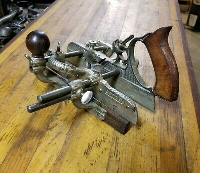 Rare ANTIQUE Stanley 45 Combination Plow Plane ☆ VINTAGE Woodworking Tools ☆USA