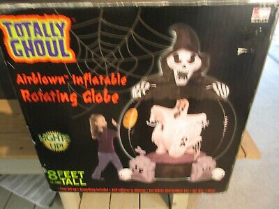 Halloween Ghosts Airblown Inflatable 8 FT Light Up Rotating Globe gemmy