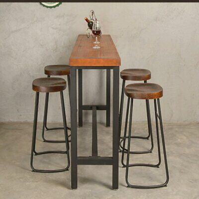 Groovy 1X Vintage Industrial Bar Stools Chair Retro Kitchen Counter Caraccident5 Cool Chair Designs And Ideas Caraccident5Info