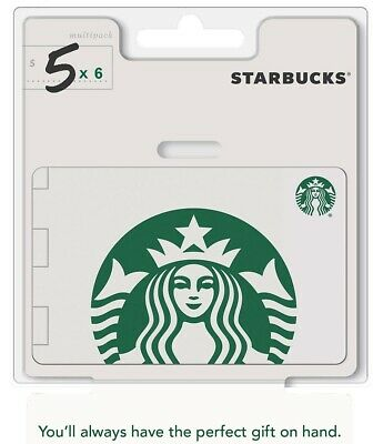 Starbucks Gift Card $30 Email Delivery Send $5 x 6 OR $10 + $20 Cards $5 and $25