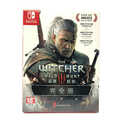 The Witcher 3 Wild Hunt Complete Edition Nintendo Switch English Chinese Sealed
