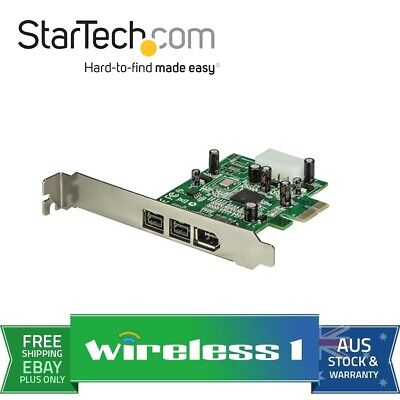 StarTech 3 Port 2b 1a 1394 PCIe FireWire Card Adapter