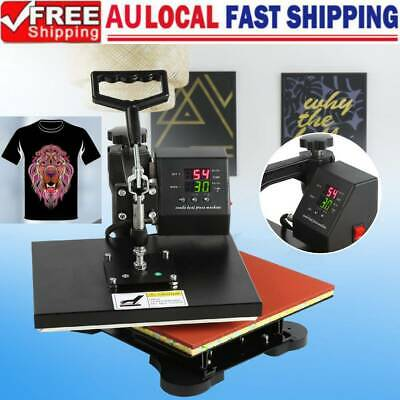 750W Digital Heat Press Machine T-Shirt Sublimation Swing Away Transfer 110V