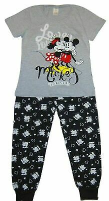 LADIES DISNEY MINNIE MOUSE 'LOVE YOU FOREVER MICKEY' PYJAMAS SIZES 8-10 to 16-18