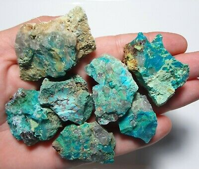 103 Gram Total Parcel of Natural Australian Chrysocolla & Quartz Rough Specimen