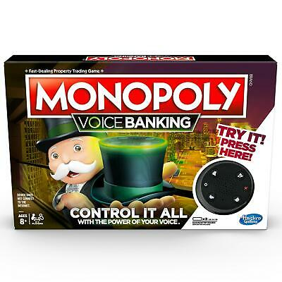 MONOPOLY Electronic Voice Banking - 2 to 4 Players Family Board Games - Ages 8+