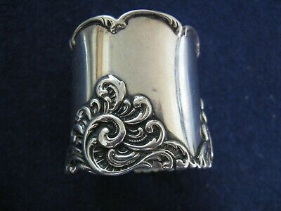 Rare Simon Brothers Sterling Silver Napkin Ring.....art Nouveau Beauty