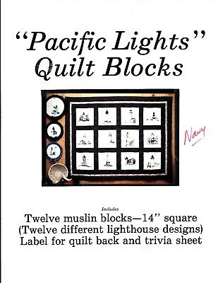 Quilting Squares:  Pacific Lights Lighthouse Quilt Blocks Pkg of 12