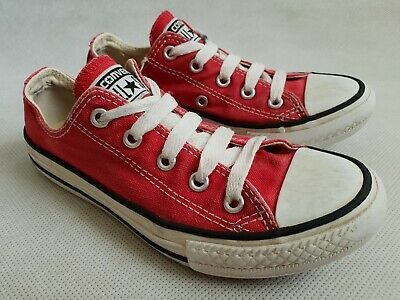 Converse Chuck Taylor All Star Classic Red Low Trainers UK Kids Size 13 RRP £32