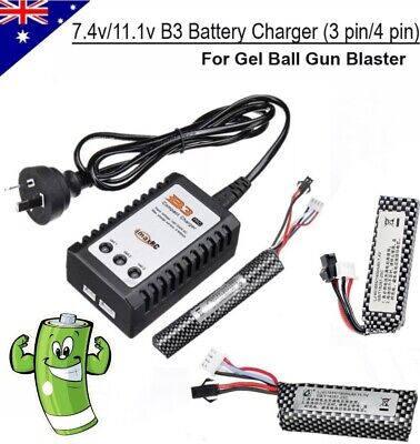 11.1v /7.4v Lipo battery B3 Balance charger Gel Ball Blaster Jinming Upgrade