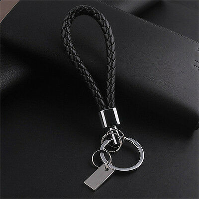 New Fashion Men Leather Key Chain Ring Keyfob Car Keyring Keychain Gift Cool DA*