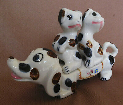 Vintage Sausage Dog with Puppies on her Back Salt & Pepper Shakers