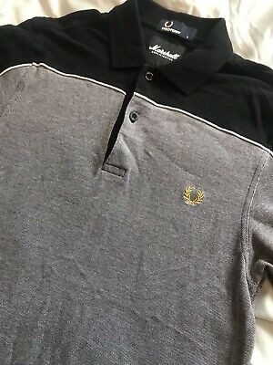 Fred Perry X Marshall Amps Limited Edition Polo Shirt - Mod, Ska, Small, 2 Tone