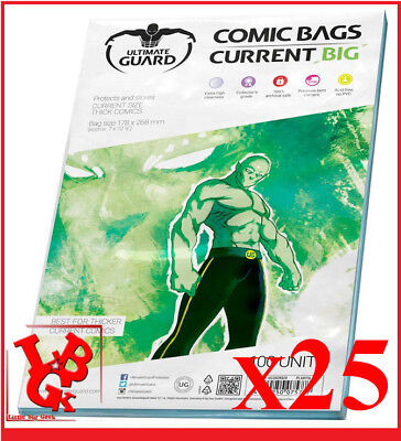 Pochettes Protection CURRENT BIG Size comics VO x 25 Marvel Bags # NEUF #