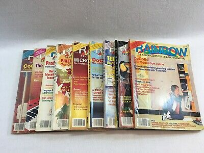 Vintage Rainbow Magazine Color Computer Monthly Lot of 9 Issues WS1
