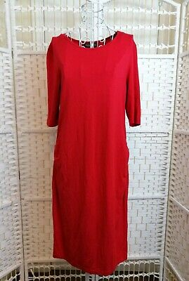 BLOOMING MARVELLOUS Mothercare Womens Red Short Sleeve Stretch Dress Size 12